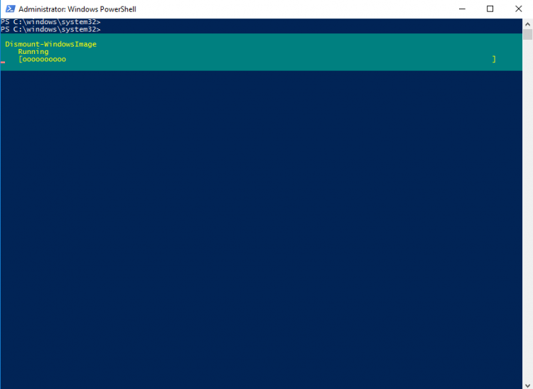 Dismount the Windows Image with DISM command